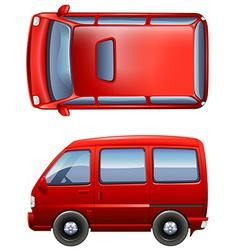 Red minivans vector