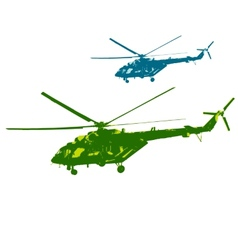 Russian army Mi-8 helicopter vector image vector image