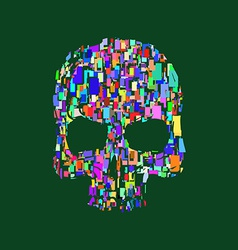 Skull t-shirt graphics print vector