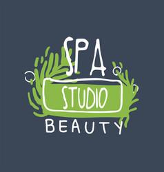 spa beauty studio logo health and beauty care vector image vector image