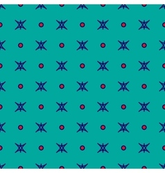Star and polka dot geometric seamless pattern 51 vector image vector image