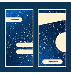 Star blue background vector