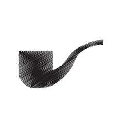 tobacco pipe smoking pictogram draw vector image