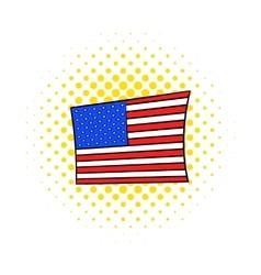 Usa flag icon comics style vector