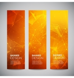 vertical banners set with polygonal vector image vector image