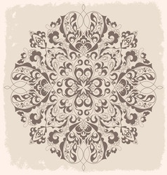 Vintage ornamental round lace pattern vector image vector image