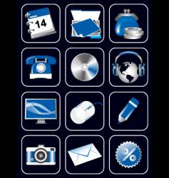 website media icons vector image vector image