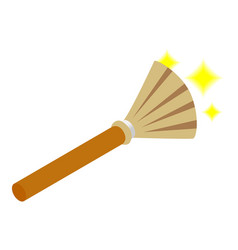 Witches broom isometric 3d icon vector