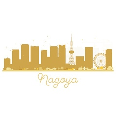Nagoya city skyline golden silhouette vector