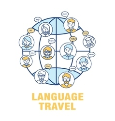 Concept for the language of tourism vector