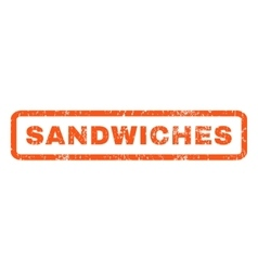Sandwiches rubber stamp vector