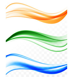 Abstract dynamic bright waves collection vector