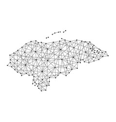 Map of honduras from polygonal black lines vector