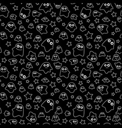 Seamless pattern ghost vector