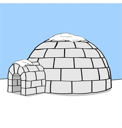 Cartoon igloo vector