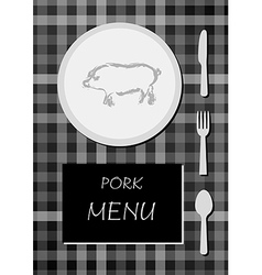 Pork menu vector