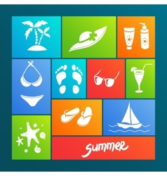 Summer elements for your design vector