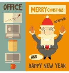 Funny Cartoon Santa Claus Boss vector image
