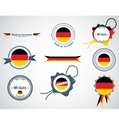 Made in Germany - seals badges vector image