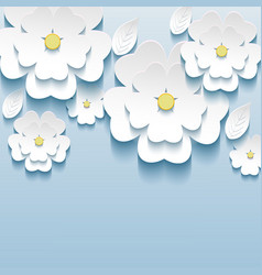 3d flowers sakura wallpaper vector