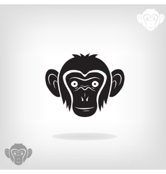 Stylized head of a monkey vector