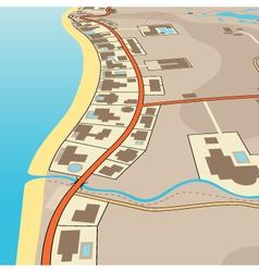 angled beachfront vector image