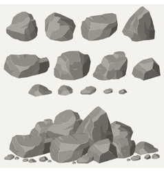 Rock stone set vector
