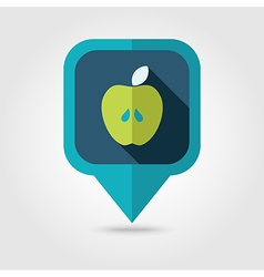 Apple flat pin map icon map pointer vector