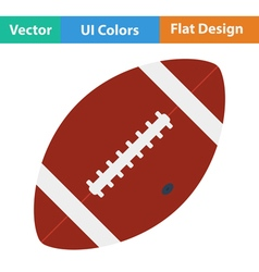 Flat design icon of american football ball vector