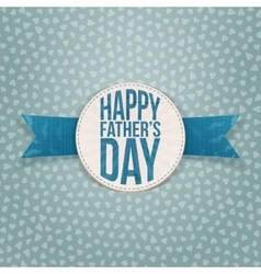 Happy fathers day paper emblem with blue text vector