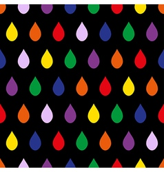 Colorful rain black background vector