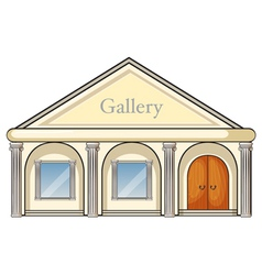 a gallery vector image