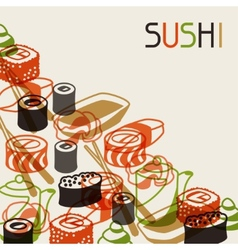 Background with sushi vector