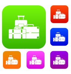 baggage set collection vector image vector image