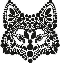 Black fox vector