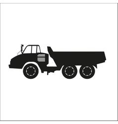 Black silhouette of a dump truck vector