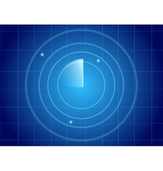 Blue radar screen vector