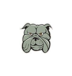 Bulldog head isolated cartoon vector