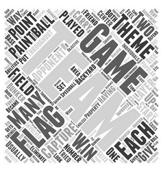 Bwpb best paintball games word cloud concept vector