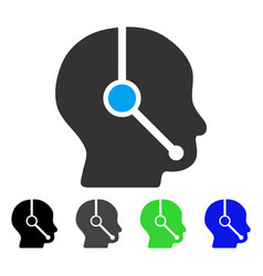 Call center operator flat icon vector