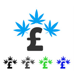 Cannabis pound business flat icon vector