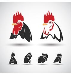 Chicken head4 vector image vector image