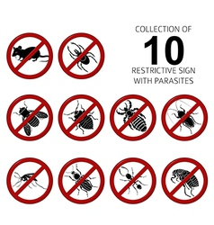 Collection of 10 parasites vector