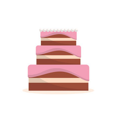 delicious cake to celebrate special day vector image vector image