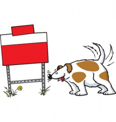 Dog and sign vector