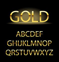 golden alphabet letters golden font type vector image vector image