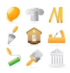Icons for construction vector image vector image