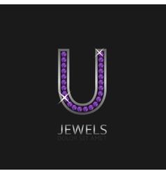 Letter U logo vector image