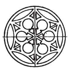 Medieval circular panel is a wrought-iron design vector