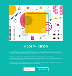 Modern design landing page with geometric figures vector